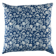 Indigo Hamptons Floral Cushion Cover