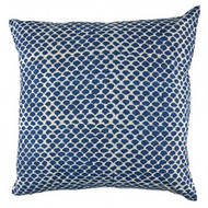 Indigo Fish Scales Hamptons Cushion Cover