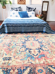 Indigo Nazaar Kantha Quilt - SOLD OUT