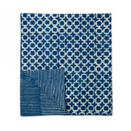 Indigo Tic Toc Table Runner
