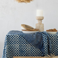 Indigo Tic Toc Tablecloth