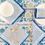 Blue Boho Hamptons Napkins (set of 4)
