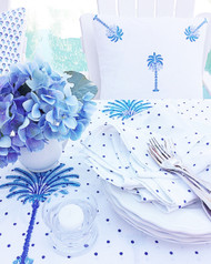 Indigo Spots Napkins -Set of 4