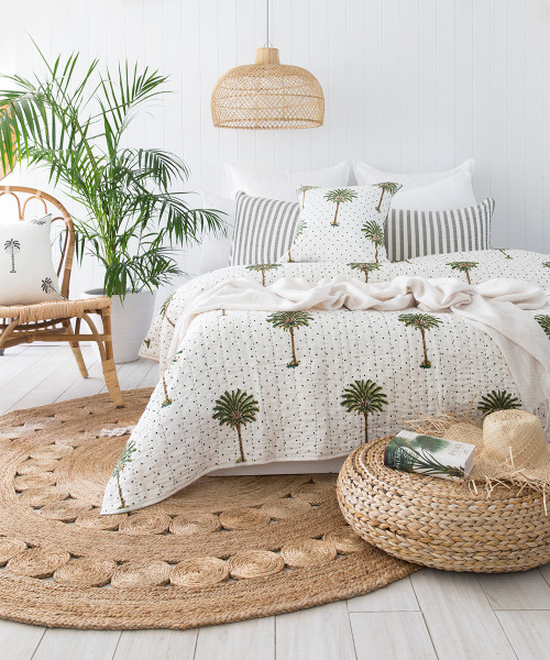 Polka Dot Palm Trees Kantha Quilt Preorders Open