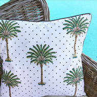 Polka Dot Palm Tree Cushion Cover