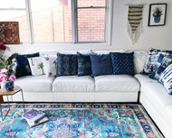 Modern Bohemian  Upcycled Rug-sold out