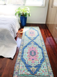 Indian Summer  Upcycled Rug Runner