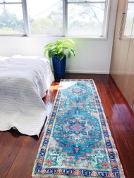 Modern Bohemian  Upcycled Rug Runner -preorders open