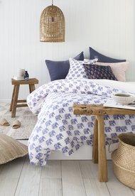 Blue Elephant Quilt Cover -Queen size
