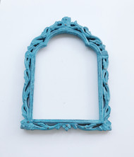 Turquoise Wooden Carved Frame