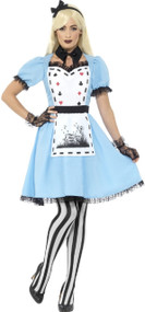 Ladies Deluxe Dark Alice Fancy Dress Costume