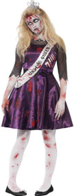 Teen Girls Zombie Prom Queen Fancy Dress Costume