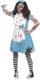 Teen Girls Zombie Alice Fancy Dress Costume