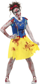 Teen Girls Zombie Miss Snow Fancy Dress Costume