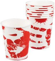Halloween Blood Prints Cups Party Accessory
