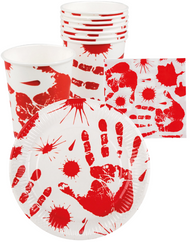 Halloween Blood Prints Table Wear Decoration Set