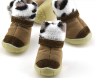Dog Brown Leopard Snow Boots