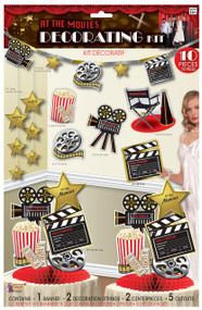 At The Movies 10Pc Party Decoration Kit