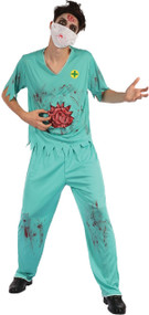 Mens Zombie Surgeon Fancy Dress Costume