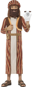 Boys Brown Shepherd Fancy Dress Costume & Puppet