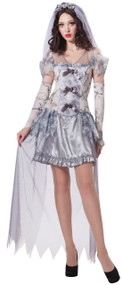Ladies Ghost Bride Fancy Dress Costume