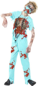 Childrens Zombie Surgeon Fancy Dress Costume