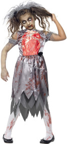 Girls Zombie Corpse Bride Fancy Dress Costume