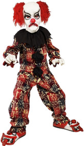 Childrens Deluxe 5Pc Scary Clown Fancy Dress Costume