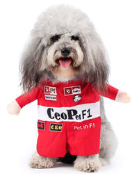 Dog Racing Driver Fancy Dress Costume