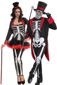 Couples Skeleton Fancy Dress Costumes