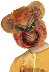 Adults Evil Zombie Teddy Bear Fancy Dress Mask