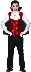 Boys Count Dracula Fancy Dress Costume