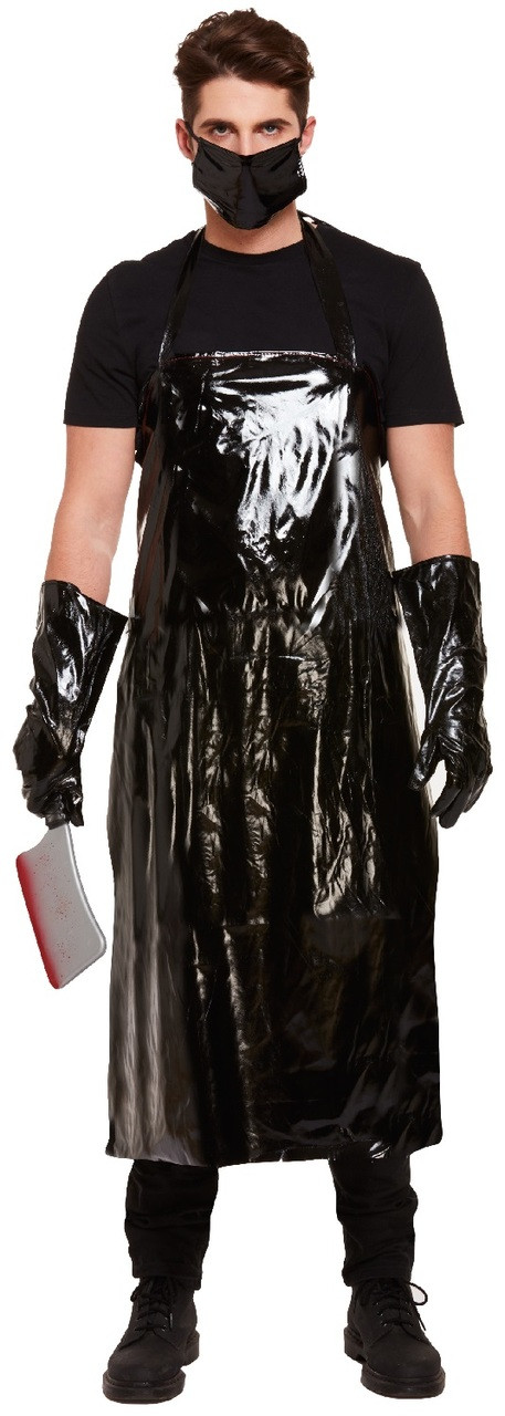 mens scary butcher fancy dress costume image 1