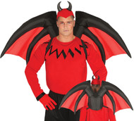 Adult Inflatable Devil Fancy Dress Wings