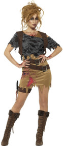 Ladies Deluxe Zombie Hunter Fancy Dress Costume
