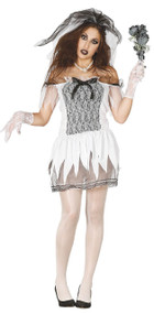 Ladies Spooky Corpse Bride Fancy Dress Costume