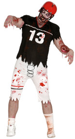 Mens Dead Zombie Quarterback Fancy Dress Costume