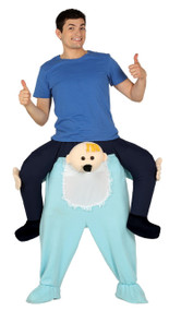 Mens Piggyback Big Baby Fancy Dress Costume