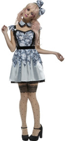 Ladies Fever Broken Doll Fancy Dress Costume