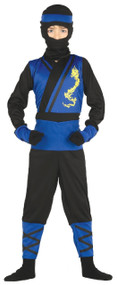 Boys Blue Ninja Fancy Dress Costume