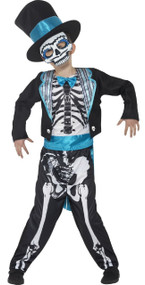 Boys Day Of The Dead Groom Fancy Dress Costume