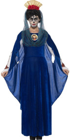 Ladies Day Of The Dead Sacred Mary Fancy Dress Costume
