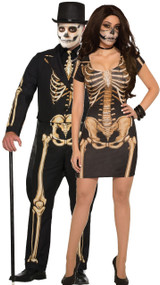 Couples Skeleton Fancy Dress Costume