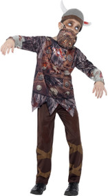 Boys Deluxe Zombie Viking Fancy Dress Costume