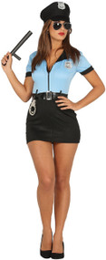 Ladies Sexy Cop Fancy Dress Costume