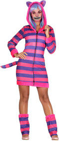 Ladies Grinning Cat Fancy Dress Costume