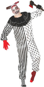 Mens Spotty Clown Fancy Dress Costume
