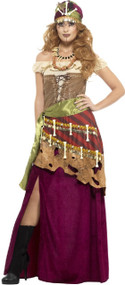 Ladies Deluxe Voodoo Fancy Dress Costume
