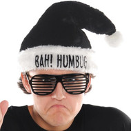 Adults 'Bah Humbug' Christmas Fancy Dress Hat