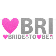 Hen Party Bride To Be Glitter Banner
